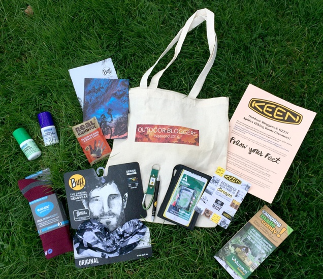 Outdoor Bloggers Goodie Bag